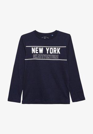 PLACED PRINT - T-shirt à manches longues - dress blue