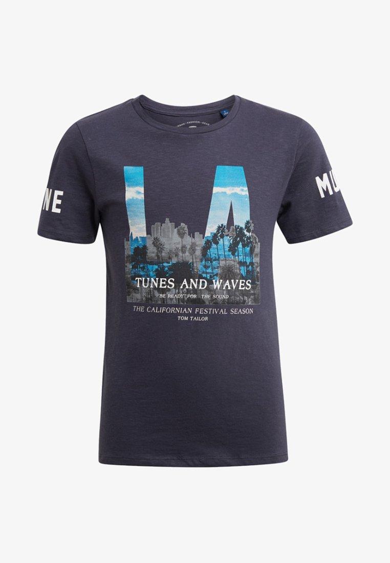 TOM TAILOR - MIT FOTO-PRINT - Print T-shirt - dark grey