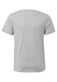 TOM TAILOR - MIT PAILLETTEN-ARTWORK - T-shirt imprimé - grey - 1