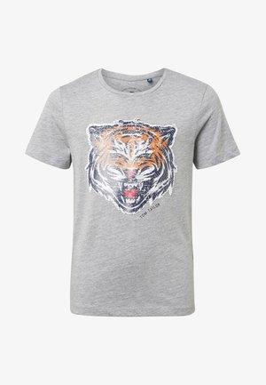 MIT PAILLETTEN-ARTWORK - T-shirt print - grey
