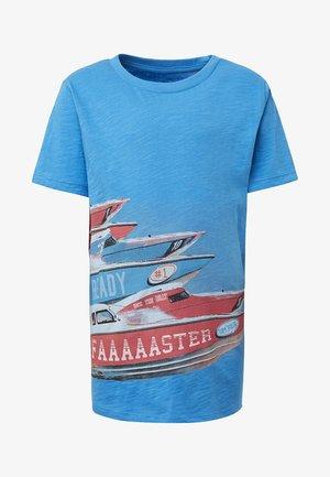 T-shirt print - brilliant blue