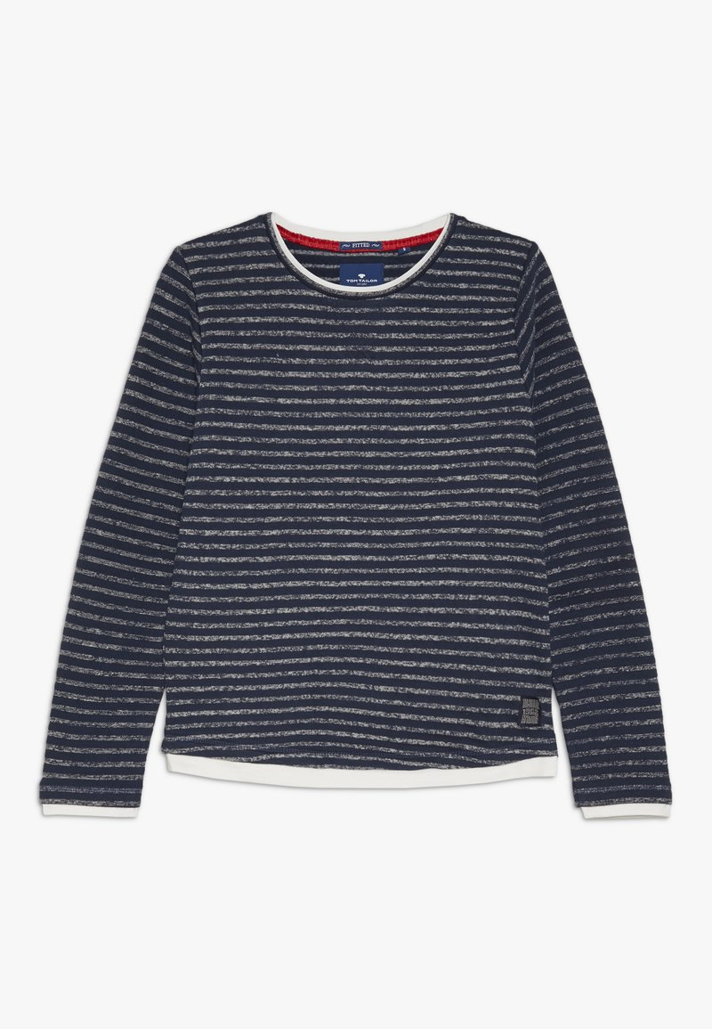 TOM TAILOR - SOLID - Sweatshirt - dress blue