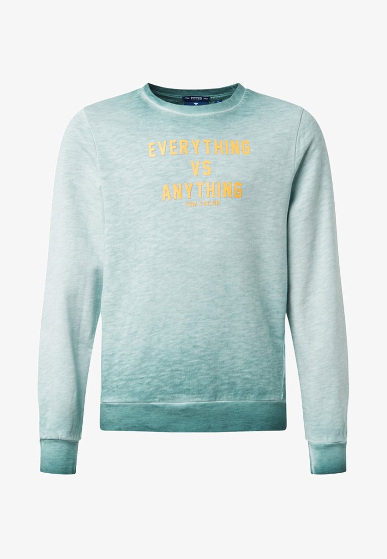 TOM TAILOR - MIT PRINT - Sweatshirt - mint