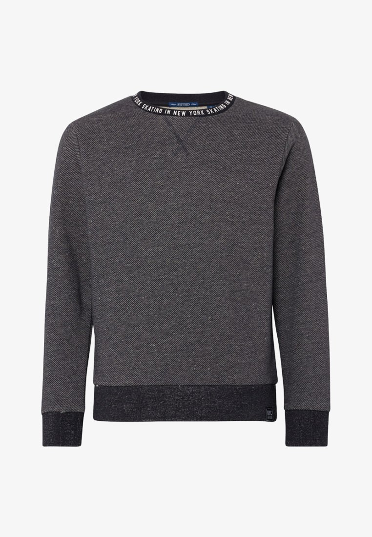 TOM TAILOR - MIT PRINT - Strickpullover - gray