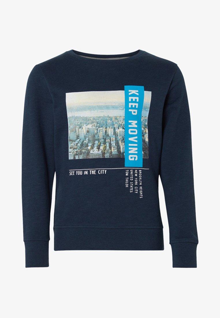 TOM TAILOR - MIT FOTO-PRINT - Sweatshirt -  blue