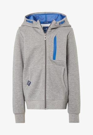 MIT PRINT - Zip-up hoodie - grey
