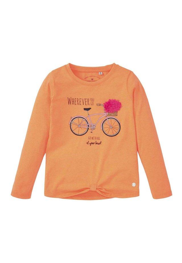 MIT PAILLETTEN-ARTWORK - Longsleeve - fiery coral orange