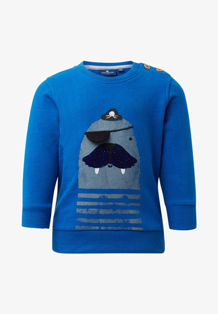 TOM TAILOR - MIT PRINT - Sweater - blue