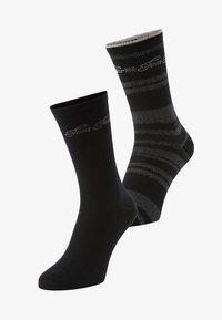 TOM TAILOR - 2PACK - Sports socks - black - 0