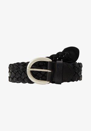 Braided belt - schwarz