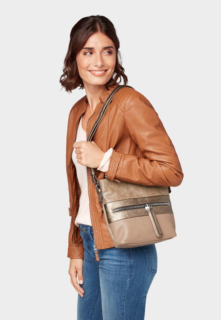 TOM TAILOR - MARIT - Across body bag - taupe/taupe