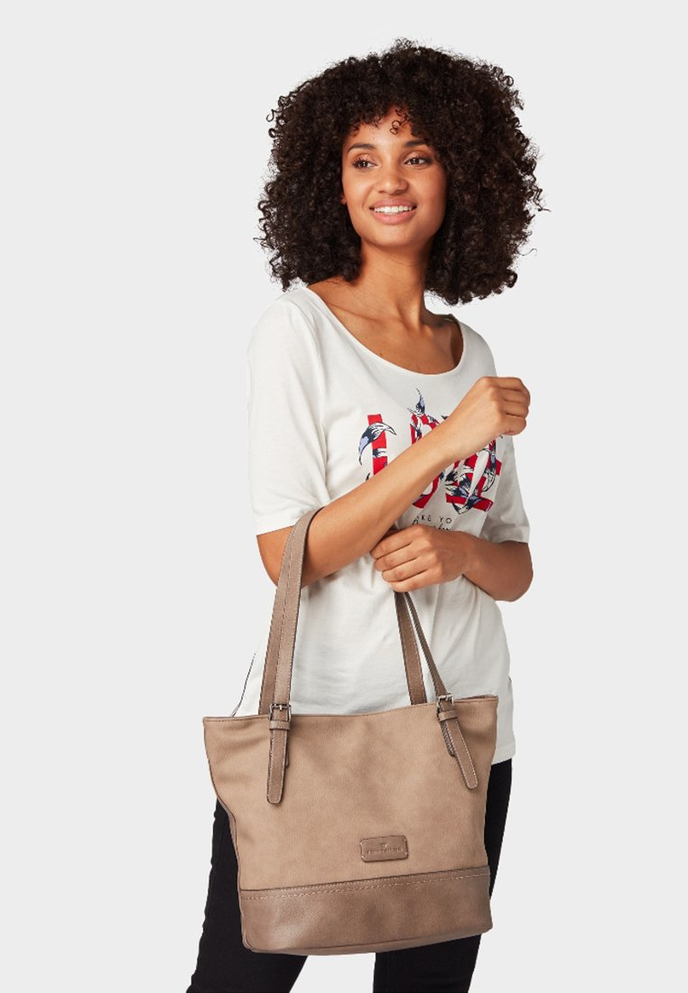 TOM TAILOR - LAURI - Handtasche - taupe/taupe