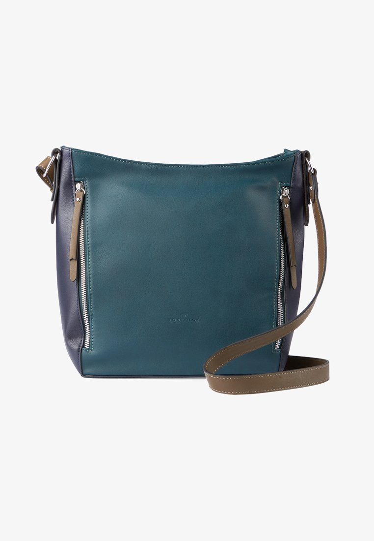 TOM TAILOR - ALEXIS HOBO - Schoudertas - dark blue/cognac