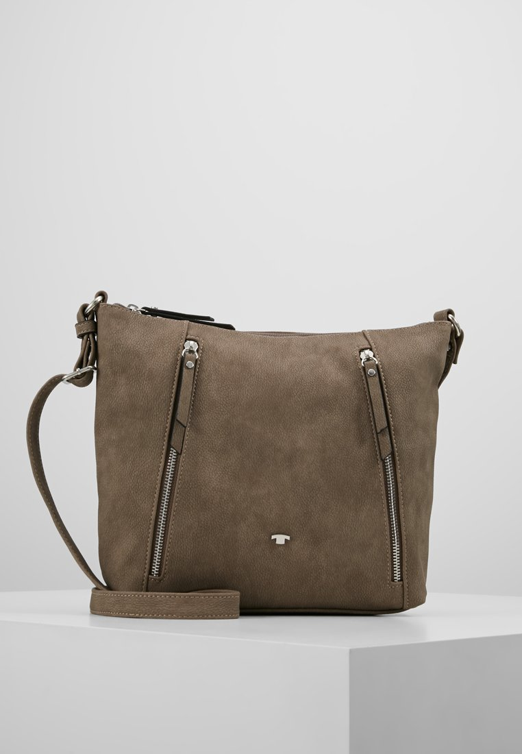 TOM TAILOR - CAROL CROSSBAG - Skuldertasker - taupe