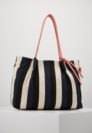 ADRIA - Shopping bag - stripes blue