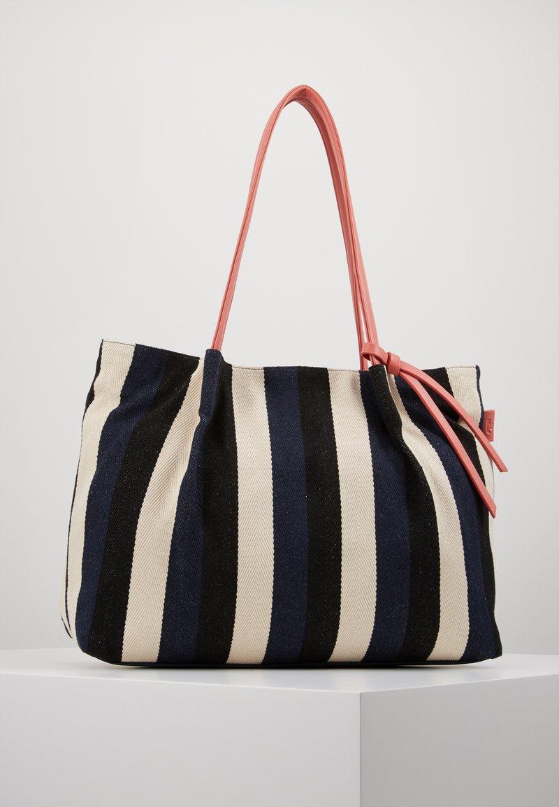 TOM TAILOR - ADRIA - Shopping bag - stripes blue