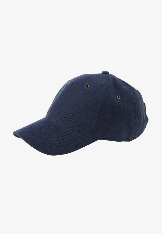 MIT STICKEREI - Cap - navy