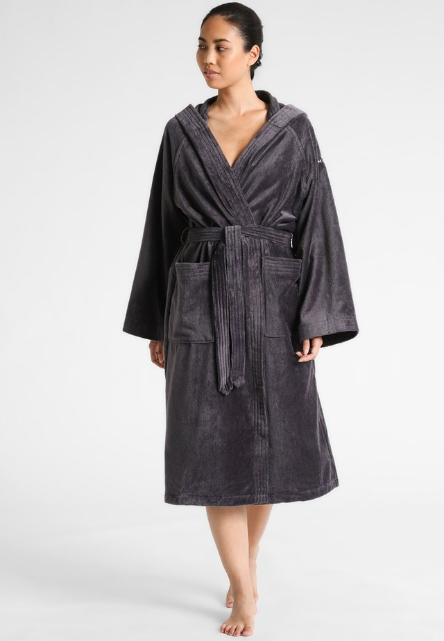 BASIC VELOURS - Dressing gown - dark grey