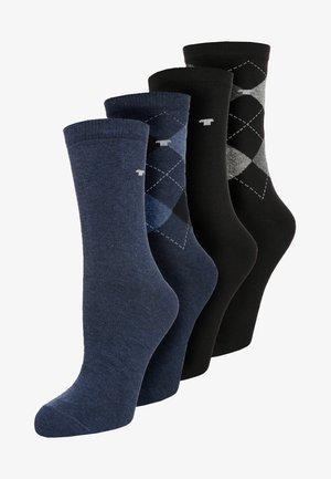 ARGYLE 4 PACK - Ponožky - blau/schwarz
