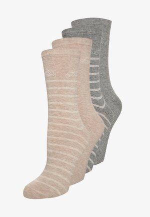 4 PACK - Sokken - beige/grau