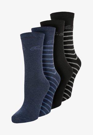 4 PACK - Calcetines - blau/schwarz