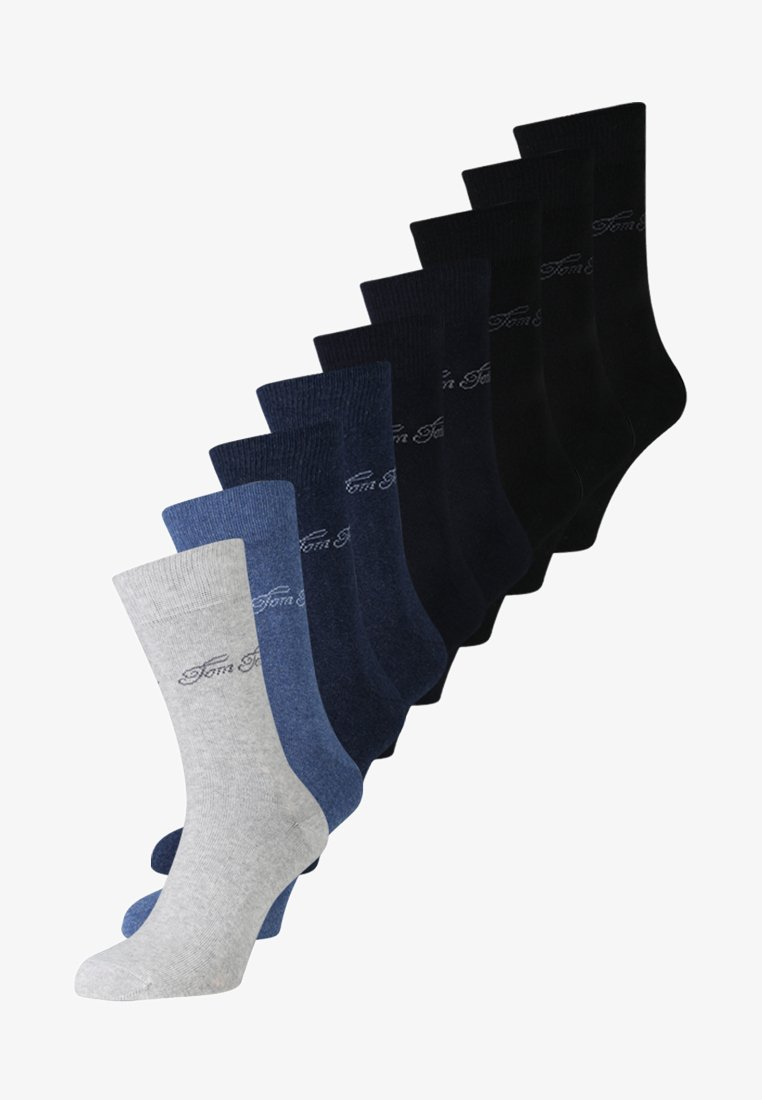 TOM TAILOR - BASIC 9 PACK - Sokken - schwarz/indigo melange/dark navy