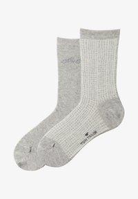 TOM TAILOR - 2PACK  - Sports socks - grey - 0