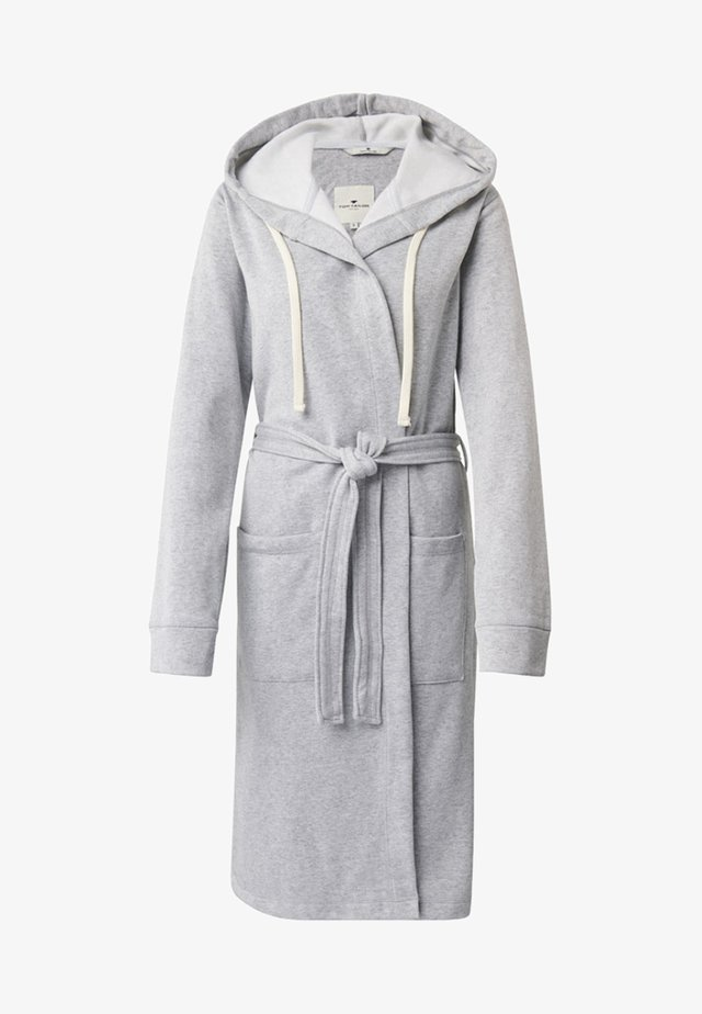 MIT KAPUZE - Dressing gown - gray