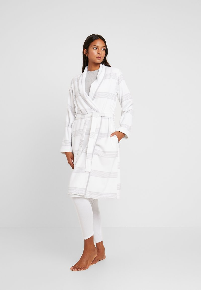 TOM TAILOR - HAMAM BATHROBE - Dressing gown - silver