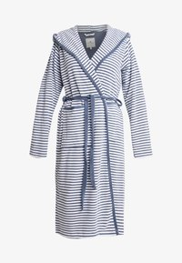 TOM TAILOR - STRIPE BATHROBE - Dressing gown - jeans blue