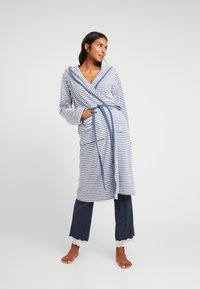 TOM TAILOR - STRIPE BATHROBE - Dressing gown - jeans blue - 0