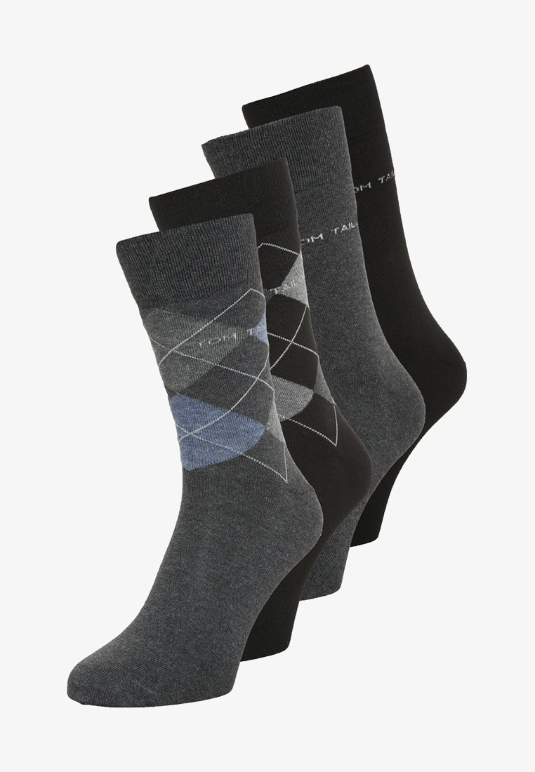 TOM TAILOR - 4 PACK - Socks - grau/schwarz