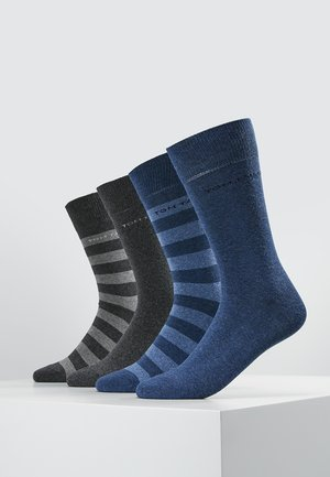 SOCKS STRIPES 4 PACK - Strumpor - grau/blau