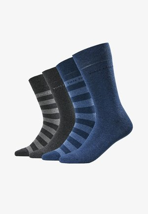 SOCKS STRIPES 4 PACK - Chaussettes - grau/blau