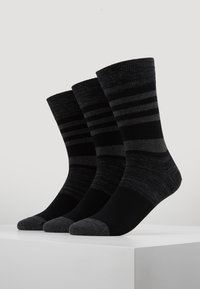 TOM TAILOR - WINTER STRIPES 6 PACK - Sokken - black