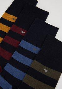 TOM TAILOR - BOX 4 PACK - Sokken - black/yellow/burgundy - 2