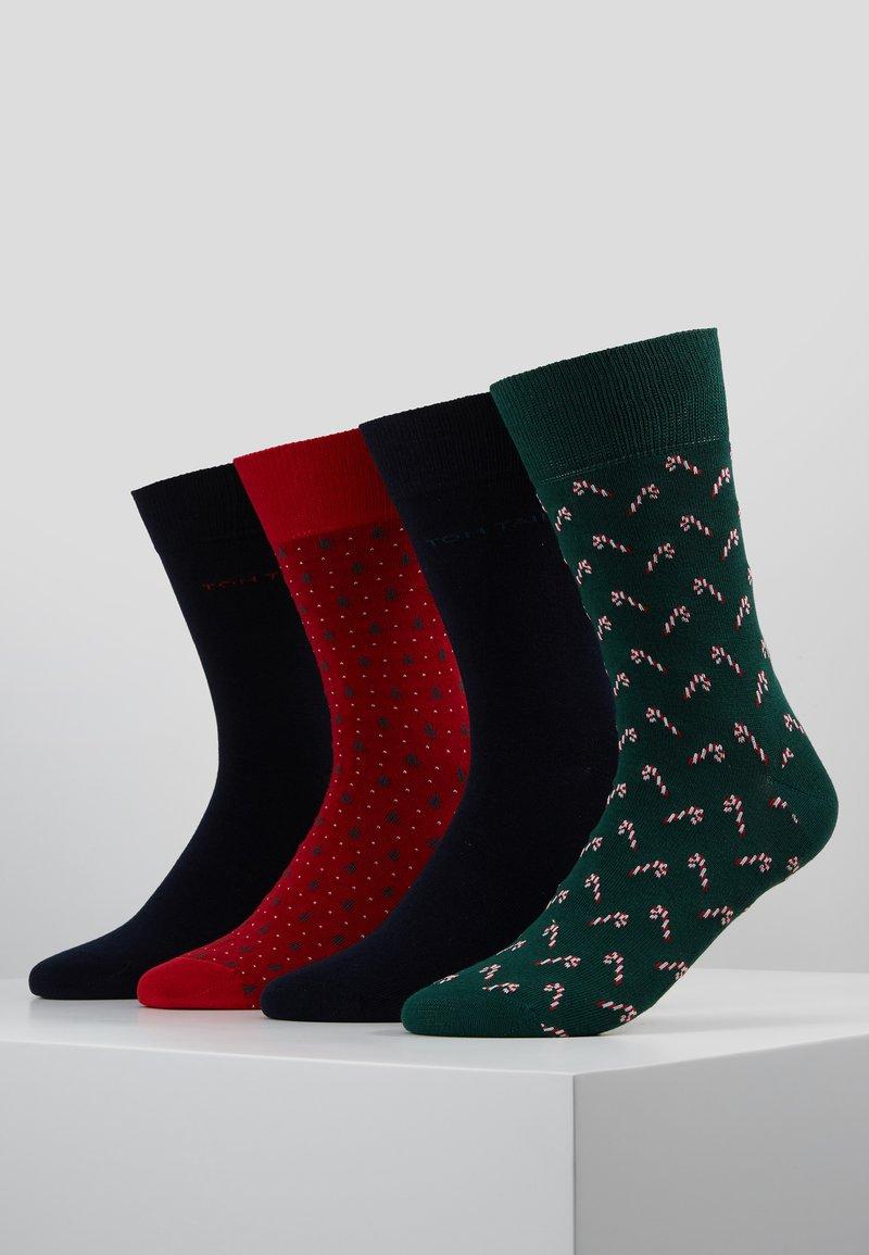 TOM TAILOR - XMAS BOX 4 PACK - Socks - navy/green/red
