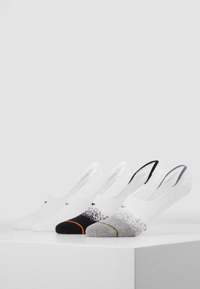 INSHOE GRADIENT 4 PACK - Trainer socks - white/black
