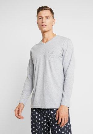 X MAS - Pijama - dark blue/mottled grey