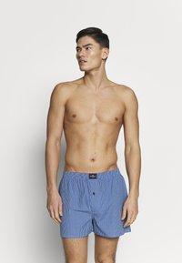 TOM TAILOR - 3 PACK - Boxer shorts - dark blue/blue/green - 1