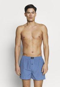 TOM TAILOR - 3 PACK - Boxer shorts - dark blue/blue/green - 0