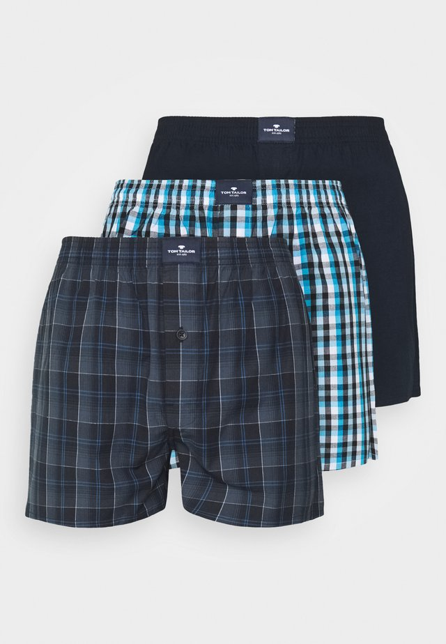 3 PACK - Boxer shorts - blue/dark