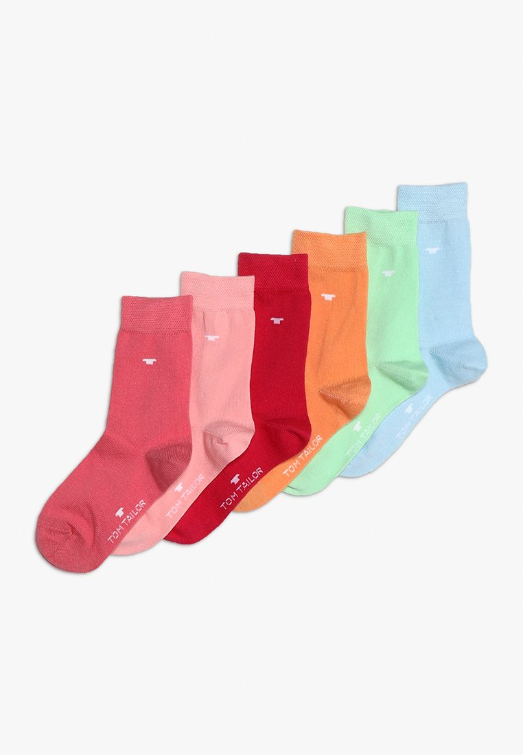 TOM TAILOR - UNI BASIC 6 PACK - Socks - light coral/sky blue