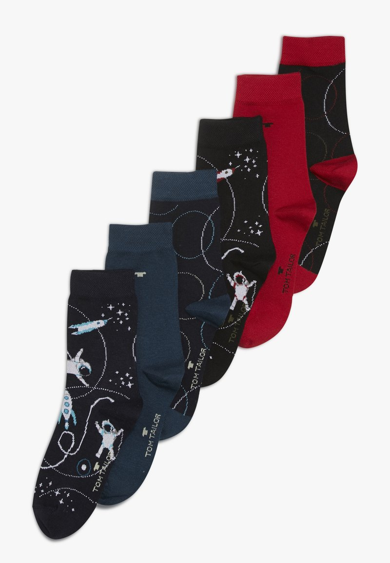 TOM TAILOR - ASTRONAUT SOCKS 6 PACK - Socken - dark blue