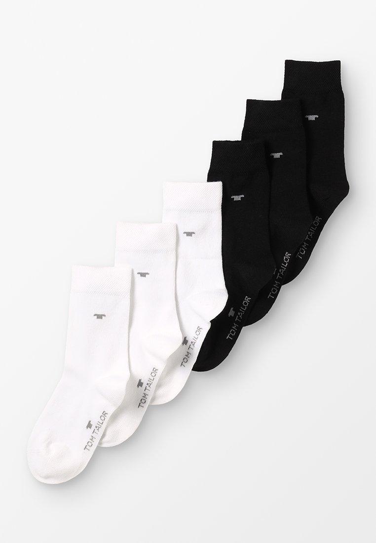 TOM TAILOR - BASIC 6 PACK - Socks - weiß/schwarz