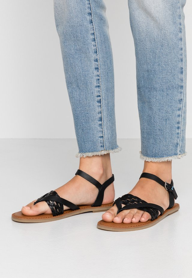 LEXIE - T-bar sandals - black
