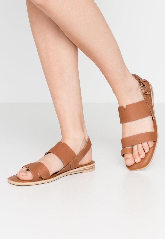 FREYA - T-bar sandals - tan