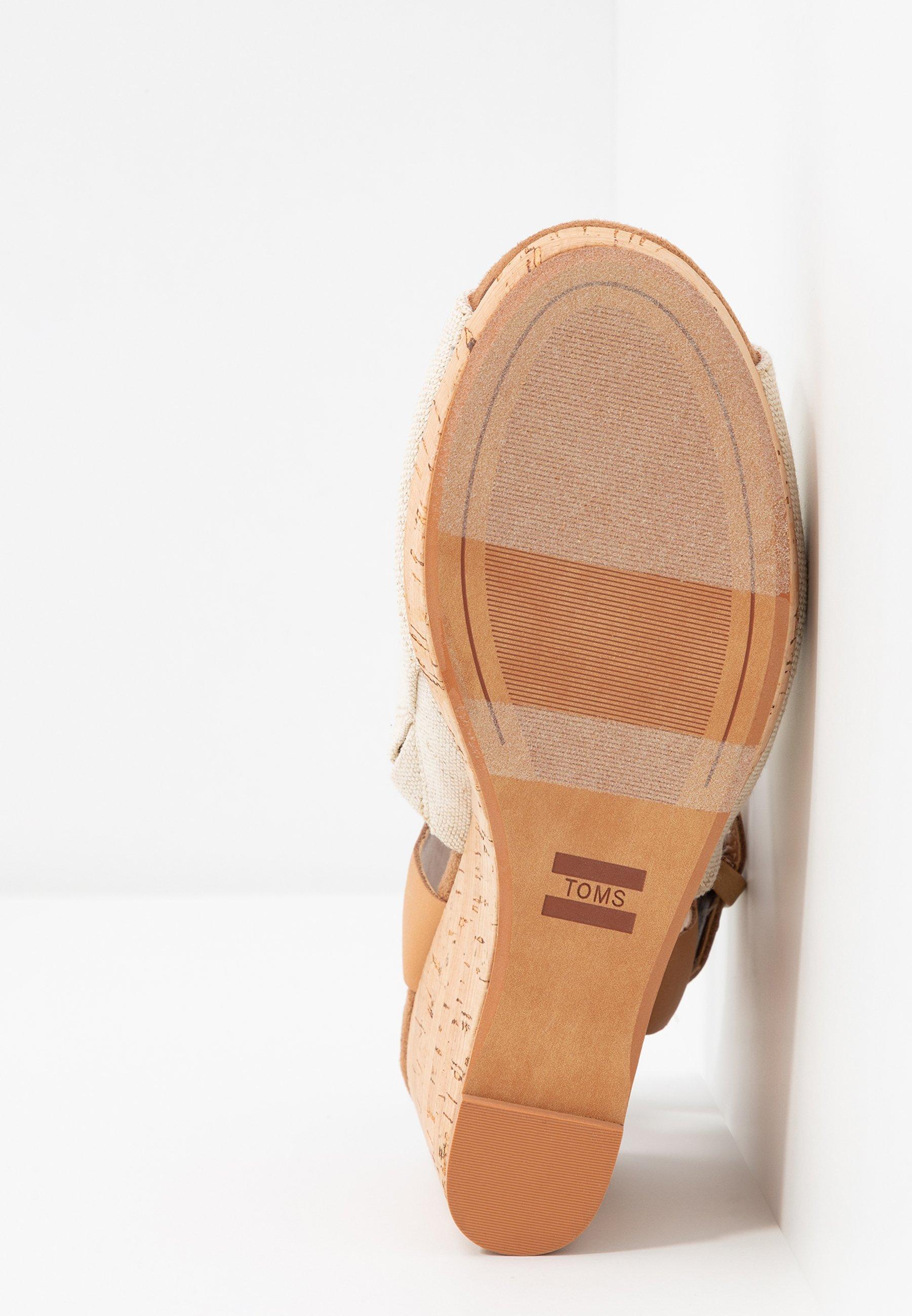 TOMS TROPEZ - Sandales à talons hauts - natural
