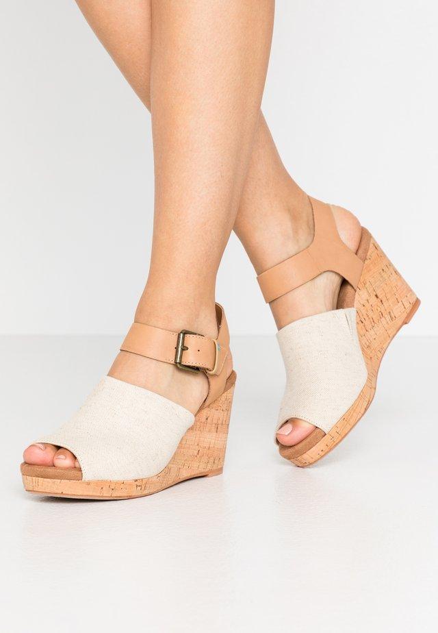 TROPEZ - Sandály na vysokém podpatku - natural
