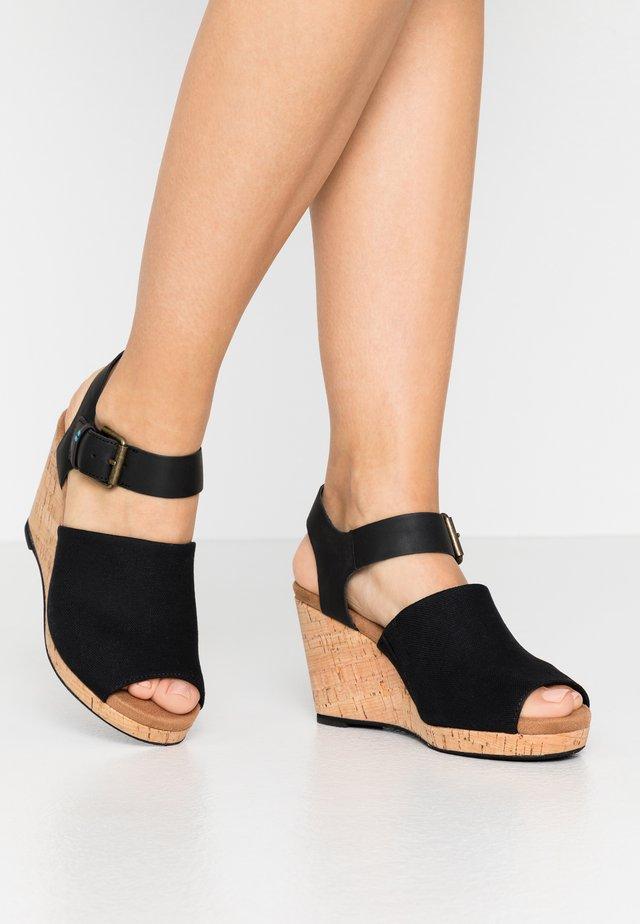 TROPEZ - Sandály na vysokém podpatku - black